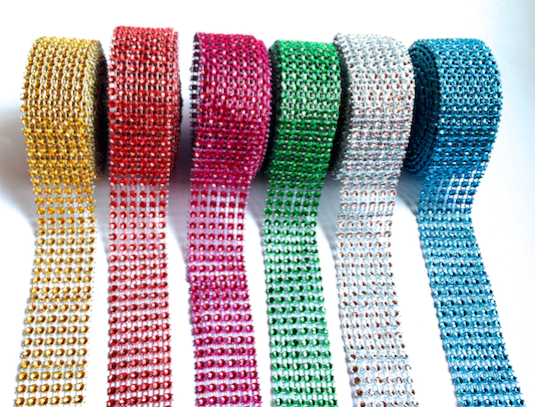 Green Strass Ribbon  9ft 10 .11in. - Top Cake