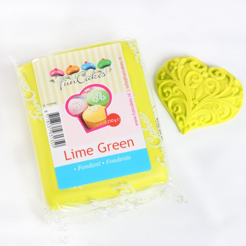 Lemon green Sugar Paste  Fun Cakes