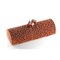 Mat For Silicone Log Gutter Coffee Bean Textured