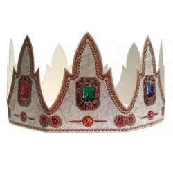 5 Coloured King's cake crowns