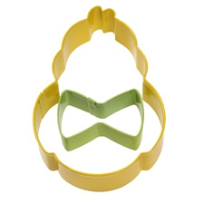 Chick and bow tie cookie cutter