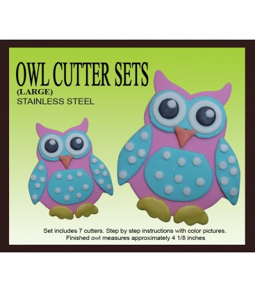 Owl cookie cutter – large