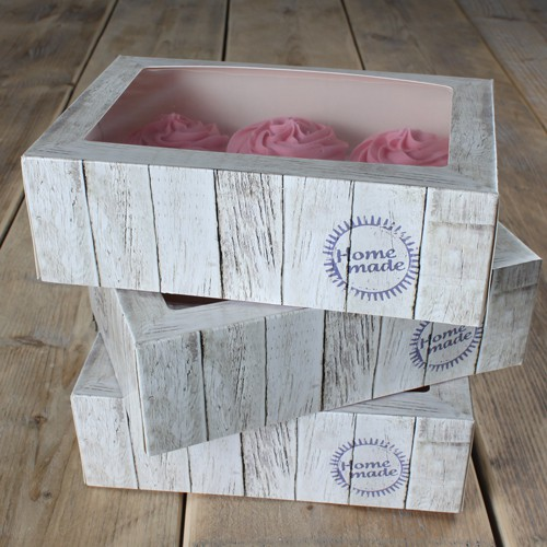 Muffins and cupcakes box - wood