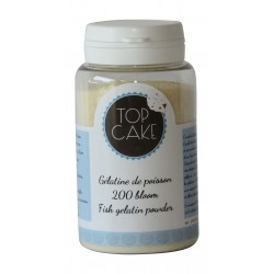 Gelatin powder fish origin 200 bloom - 100g - TopCake