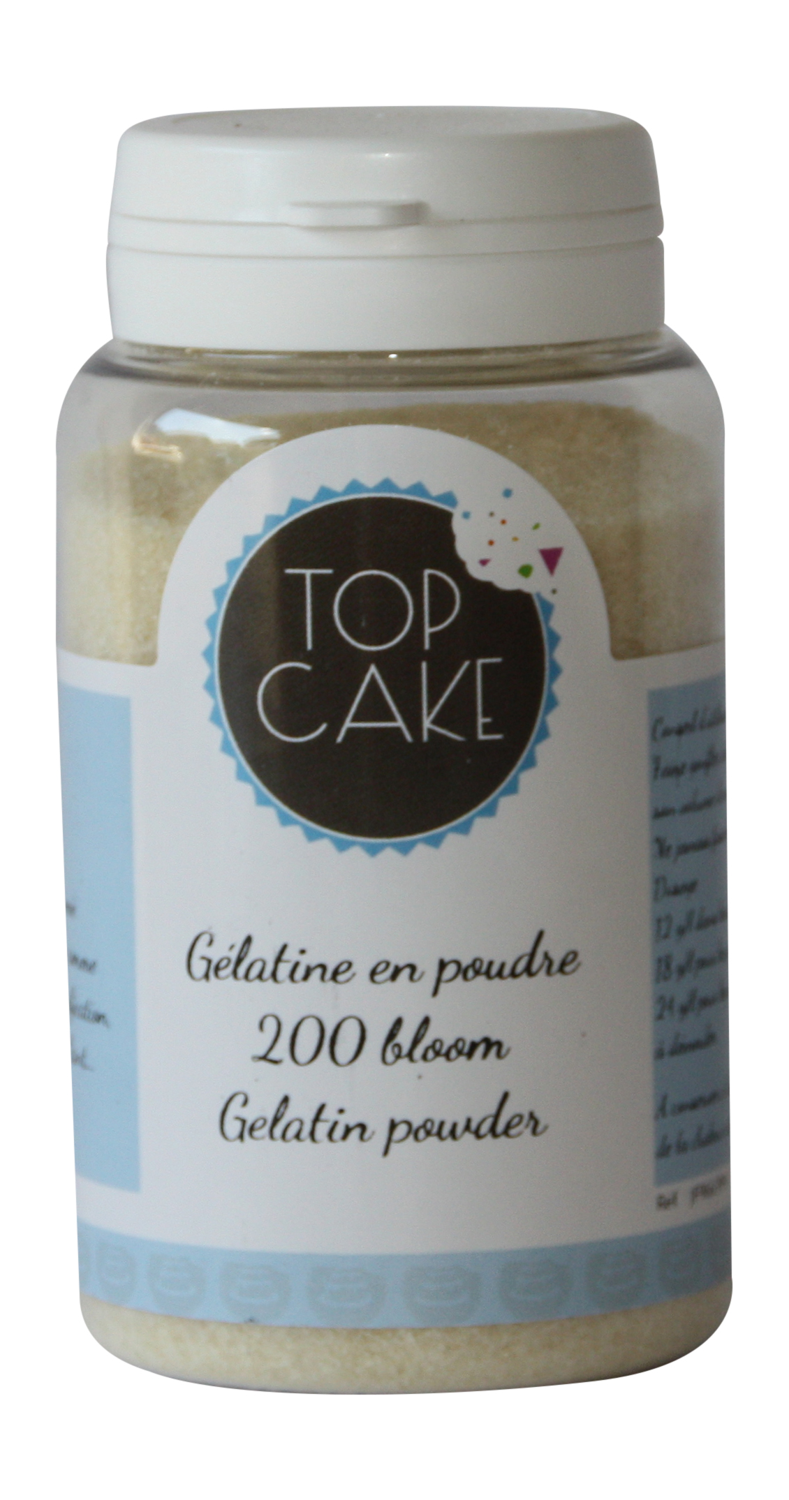 Gelatin powder 200 blooms x 100g - TopCake