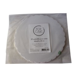 10 white round cakeboard – approx. 10in - TopCake