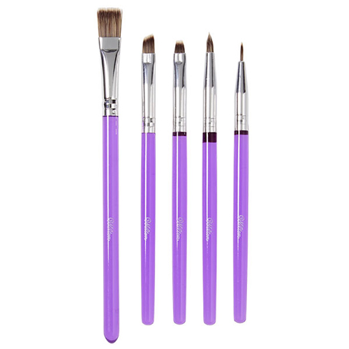 Cake design brushes set x 5
