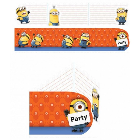 Cartons d'invitation Les Minions