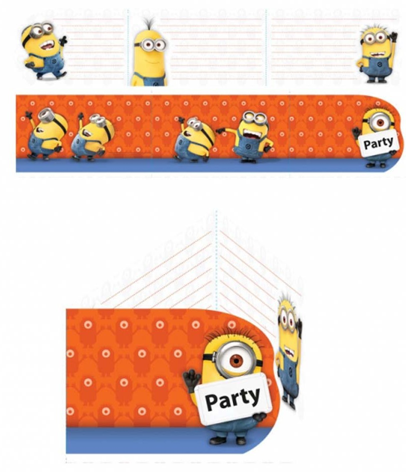 Cartons d'invitation Les Minions*