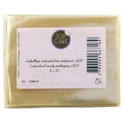 Emballages de confiserie x 100 Rectangle 8x10 - TopCake