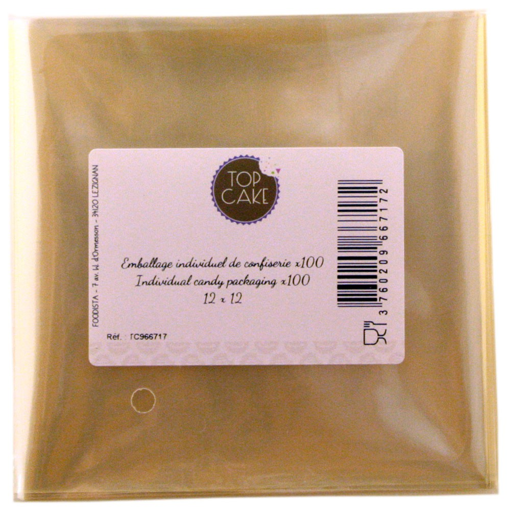 TopCake – Confectionnery bags x 100 - Square 12cm