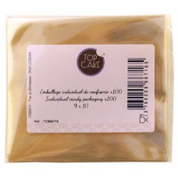 Emballages de confiserie x 100 Rectangle 9x10 cm - TopCake