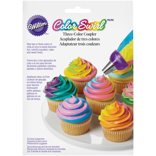 Pastry bag coupler 3 colours