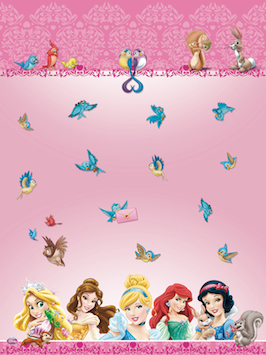 Princesses and animals tablecloth