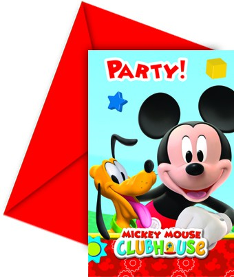 Mickey invitation card
