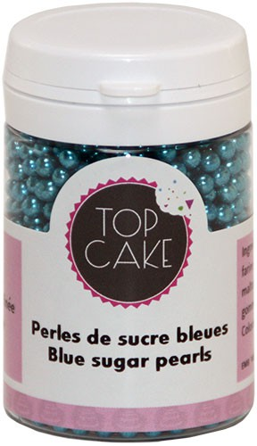 Top Cake Metallic Blue sugar pearls Best use before 07/2018
