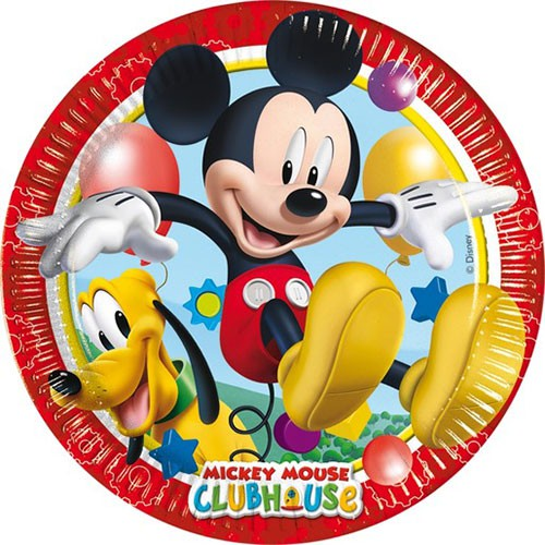 Mickey's House paper plates