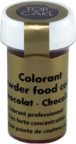 Chocolate brown food colouring powder