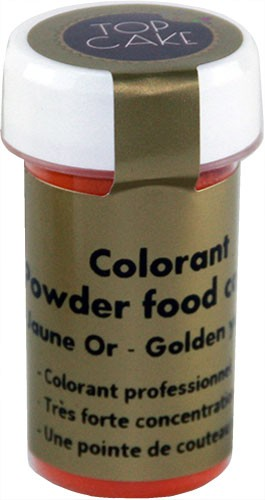 Colorant Poudre Hydrosoluble Jaune Or 5g Top Cake