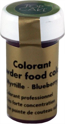 Blueberry food colouring powder Top Cake