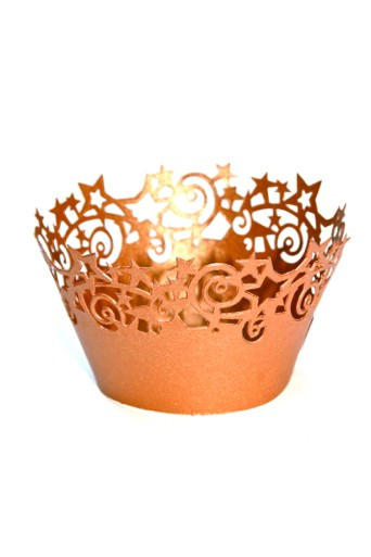 Coppery stars cupcake ring mould