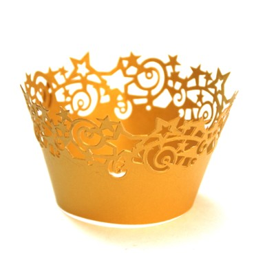 Gold stars cupcake ring mould