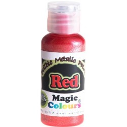 Peinture Alimentaire irisée ROUGE Casher Magic Colours