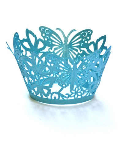 Blue butterflies cupcake ring mould