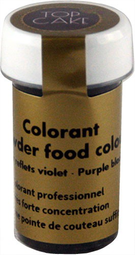 Water-soluble ultra concentrated black and purple food colouring powder