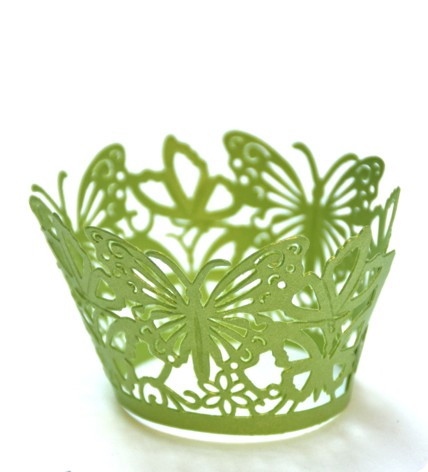 Anise green* butterflies cupcake ring mould