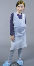 Disposable child apron x 100