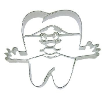 Tooth and face cookie cutter