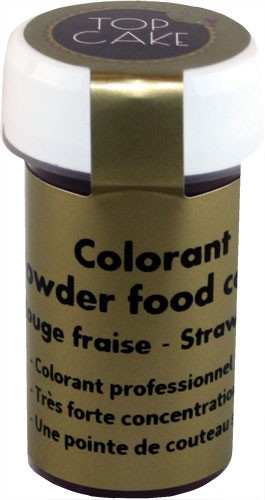 Colorant Alimentaire Poudre rouge fraise hydrosoluble Top Cake