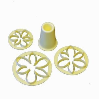 Flower base and petal cookie cutter