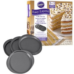 4 Moules à layer cake ronds