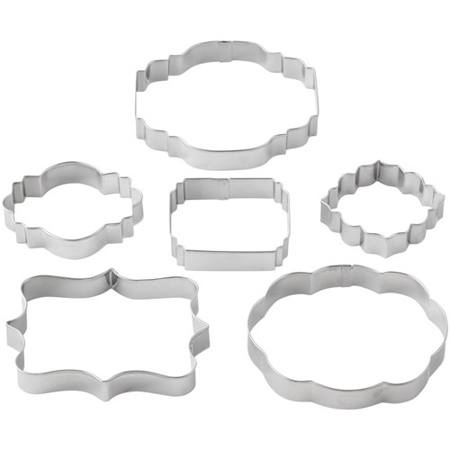 6 Plaque cookie cutters