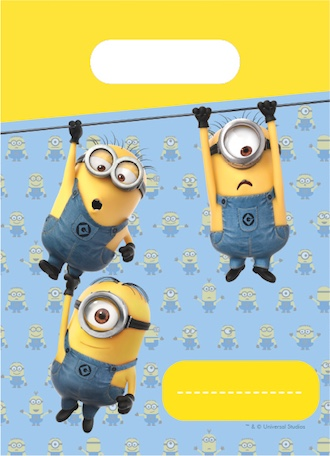 6 Minions candy bags