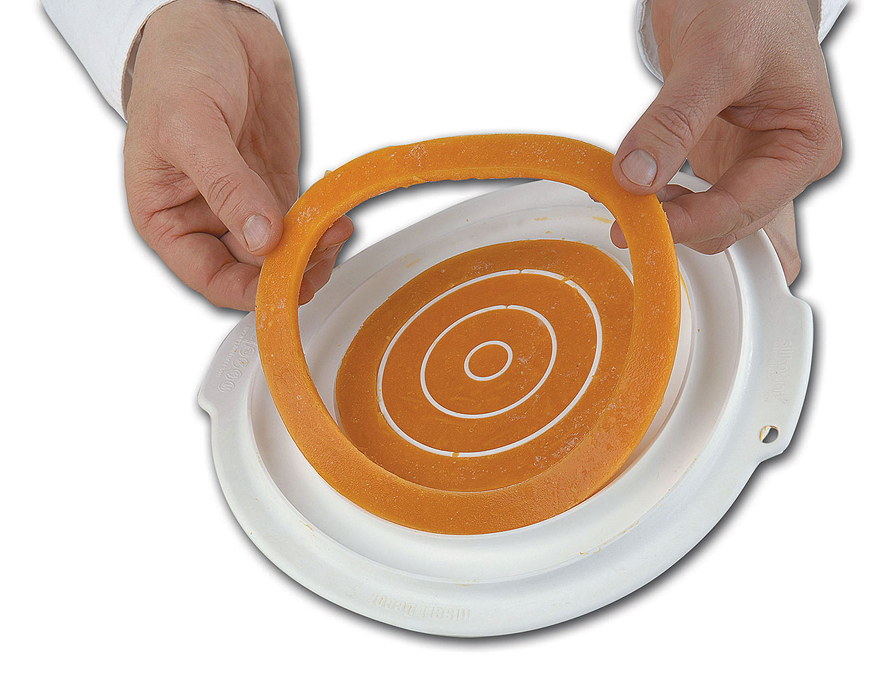 Insert silicone rond double face - Moule Silikomart Professionnel