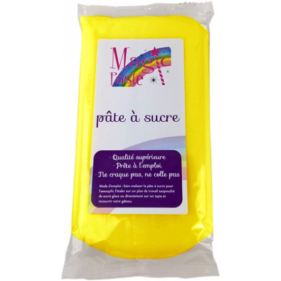 Pâte à sucre Magic Paste JAUNE 250g