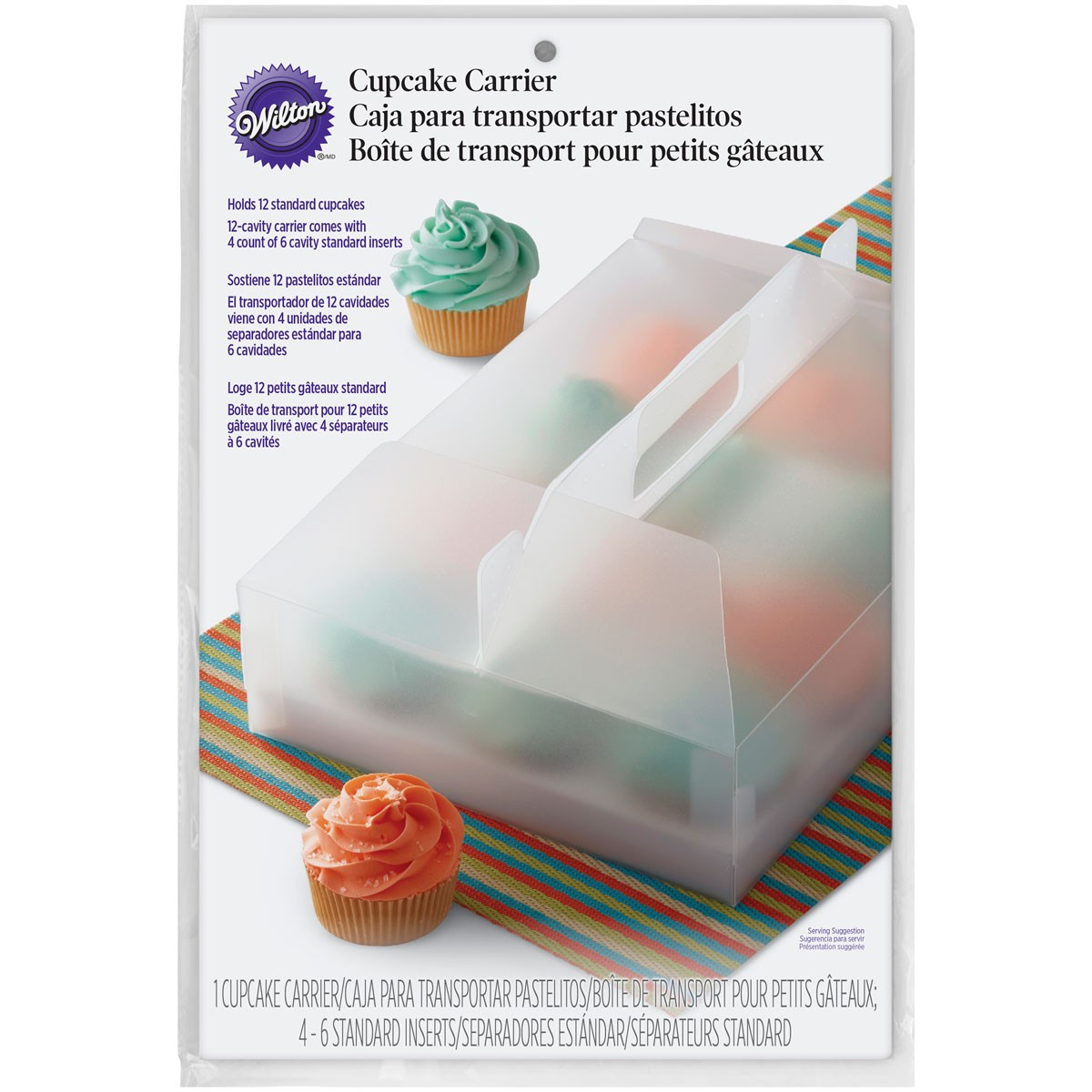 Plastic transport box for cupcakes