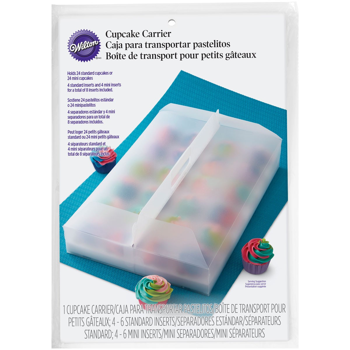 Plastic transport box for 24 cupcakes