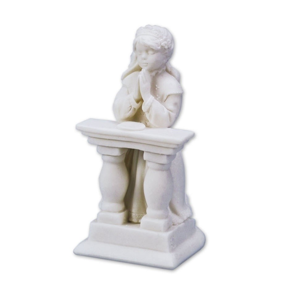 Communicant figure in white resin – Girl*