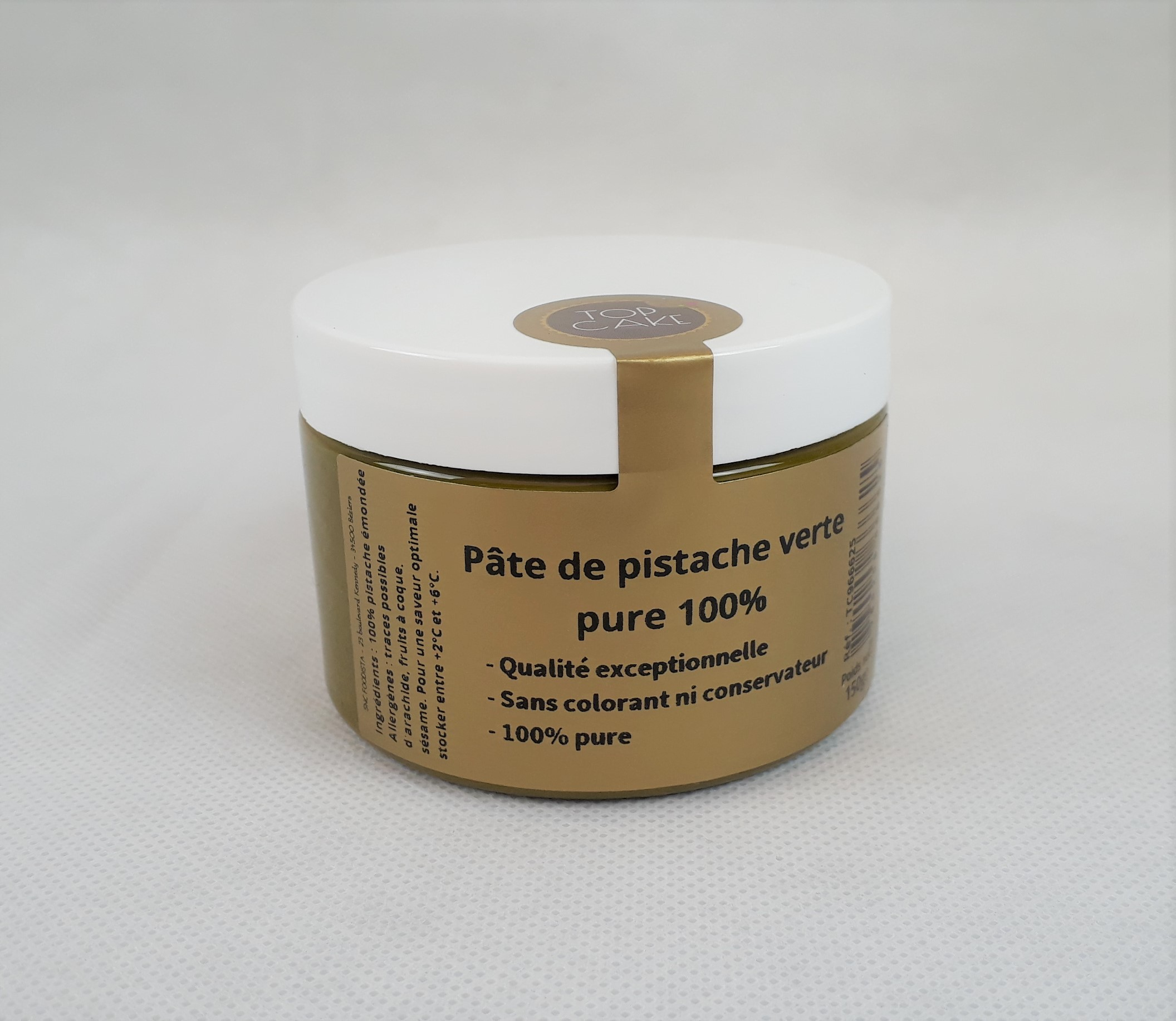 Top Cake 100 % Pur Green Pistachio Paste 5.29 oz.
