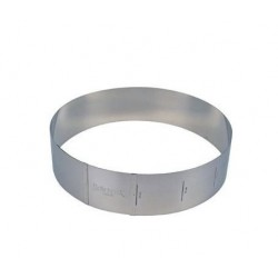 Modular pastry ring 18 to 30cm. 7cm high