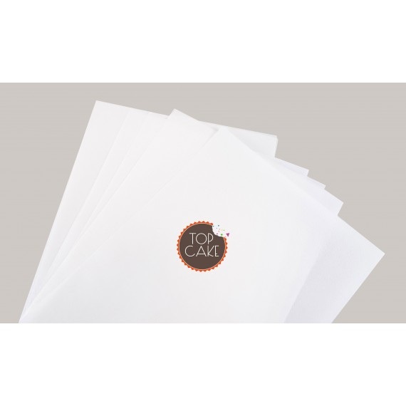 TopCake – A3 Smooth wafer sheets x5 Feuilles azymes striées A3