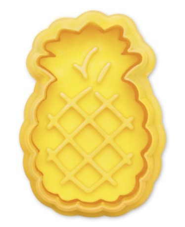 Pineapple cookie cutter with ejector