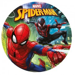 Disque en sucre Spiderman 20 cm