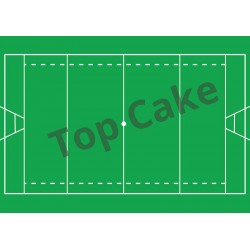 Tapis Azyme Terrain de Rugby - TopCake