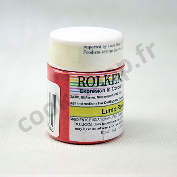 Fluorescent Rouge Romance food colouring gel 20g