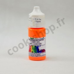 Colorant Alimentaire Gel Fluorescent Orange 15 ml